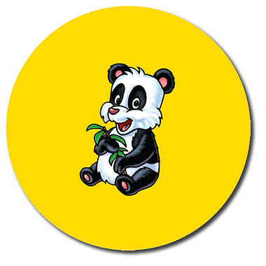 Personalised Panda Stickers (35 per sheet - 37mm)