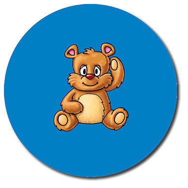 Personalised Teddy Bear Stickers (35 per sheet - 37mm)