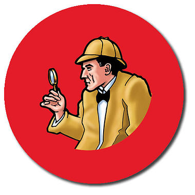 Personalised Detective Stickers (35 per sheet - 37mm)