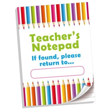 'Teacher's Notepad' 50 Page Lined A4 Notepad