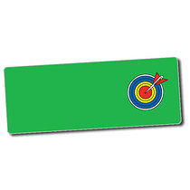 Sheet of 56 Personalised 46mm x 16mm Target Board Stickers