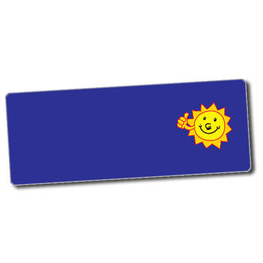 Customised Sun Stickers (56 per sheet - 46mm x 16mm)