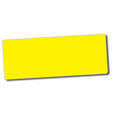 Personalised Yellow Stickers (56 per sheet - 46mm x 16mm)
