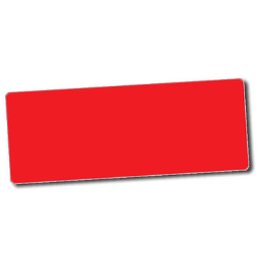 Personalised Red Stickers (56 per sheet - 46mm x 16mm)