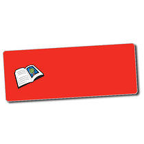 Sheet of 56 Personalised 46mm x 16mm Book Stickers