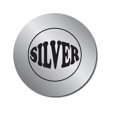 Personalised Silver Metallic Stickers (70 per sheet - 25mm)