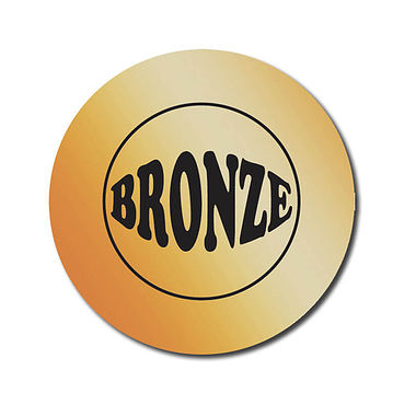 Personalised Bronze Metallic Stickers (70 per sheet - 25mm)