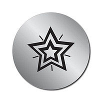 70 Personalised Silver Metallic Star 25mm Stickers