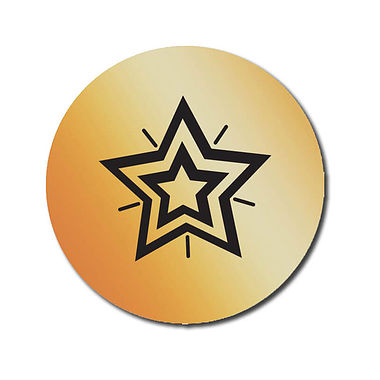 Personalised Bronze Metallic Star Stickers (70 per sheet - 25mm)