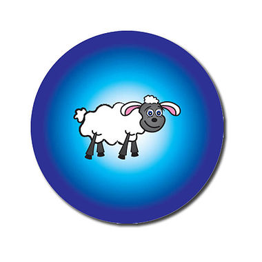 Personalised Sheep Stickers (70 per sheet - 25mm)