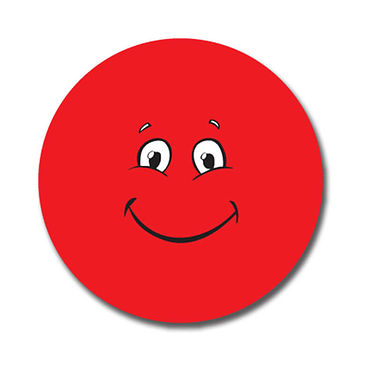 Personalised Red Face Stickers (70 per sheet - 25mm)