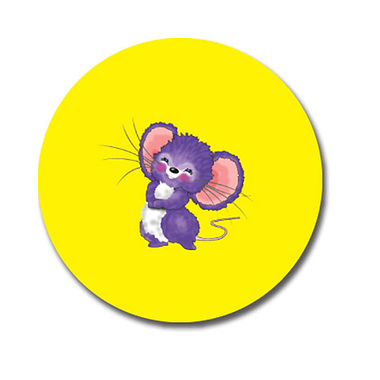 Personalised Mouse Stickers - Yellow (70 per sheet - 25mm)