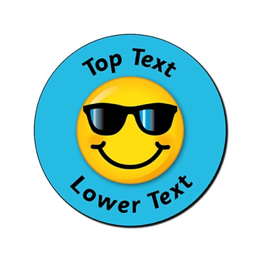Personalised Cool Emoji Stickers (70 per sheet - 25mm)
