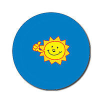 Sheet of 70 Personalised Sun 25mm Stickers