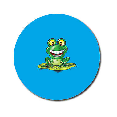 Personalised Smiley Frog Stickers (70 per sheet - 25mm)