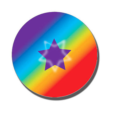 Personalised Rainbow Star Stickers (70 per sheet - 25mm)