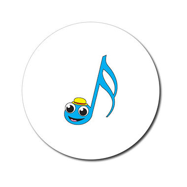 Personalised Music Note Stickers (70 per sheet - 25mm)
