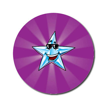 Personalised Star Stickers - Purple (70 per sheet - 25mm)