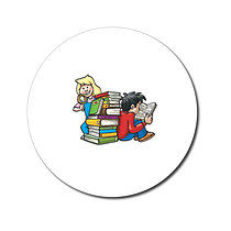Sheet of 70 Personalised Children Reading 25mm Stickers