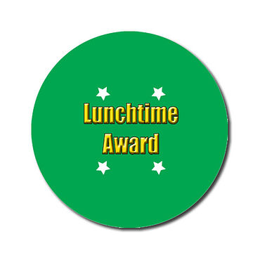 Personalised Lunchtime Award Stickers - Green (70 per sheet - 25mm)