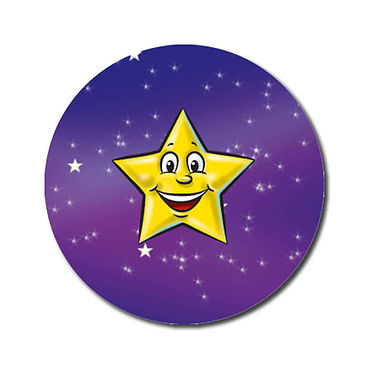 Personalised Yellow Star Stickers (70 per sheet - 25mm)