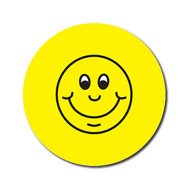 Personalised Smile Stickers - Yellow (70 per sheet - 25mm)