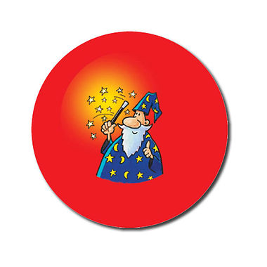 Personalised Wizard Stickers (70 per sheet - 25mm)
