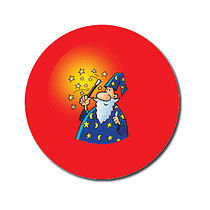 Sheet of 70 Personalised Wizard 25mm Stickers