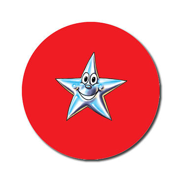 Personalised Star Stickers - Red (70 per sheet - 25mm)