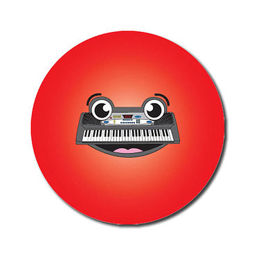 Personalised Music Keyboard Stickers (70 per sheet - 25mm)
