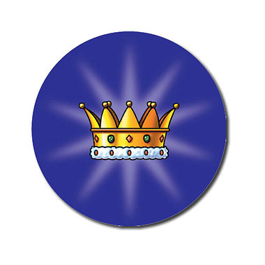 Personalised Crown Stickers (70 per sheet - 25mm)
