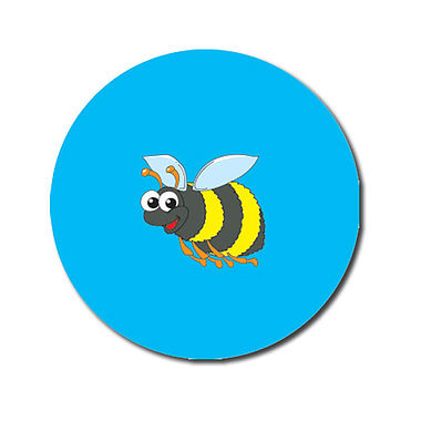 Personalised Bee Stickers (70 per sheet - 25mm)