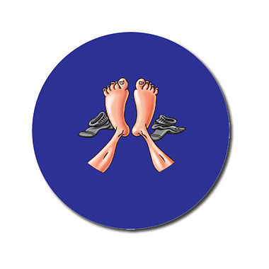 Personalised Feet Stickers (70 per sheet - 25mm)