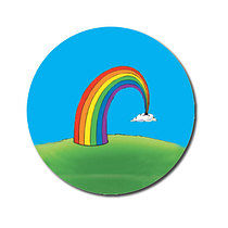 Sheet of 70 Personalised 25mm Rainbow Stickers