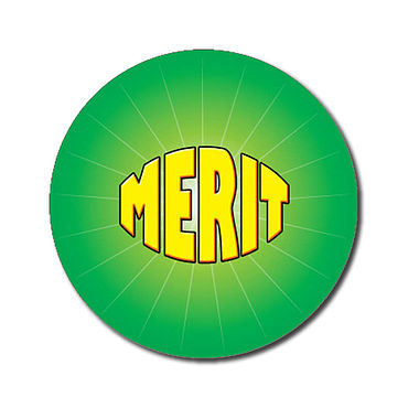 Personalised Merit Stickers - Green (70 per sheet - 25mm)