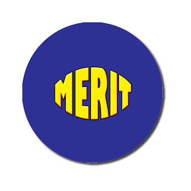 Personalised Merit Stickers - Blue (70 per sheet - 25mm)