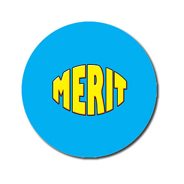 Personalised Merit Stickers - Cyan (70 per sheet - 25mm)