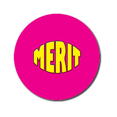 Personalised 25mm Pink Merit Stickers x 70