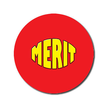 Personalised Merit Stickers - Red (70 per sheet - 25mm)