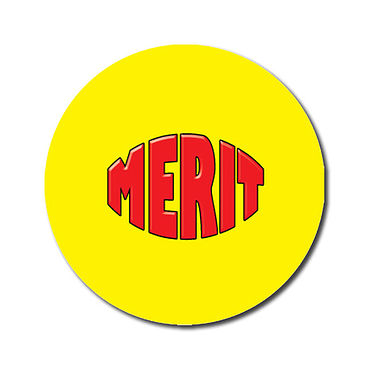 Personalised Merit Stickers - Yellow (70 Stickers - 25mm)