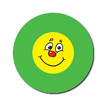 Personalised Smile Expression Stickers - Green (70 per sheet - 25mm)