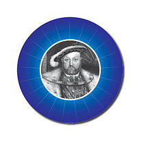 Personalised Henry VIII 25mm Blue Stickers x 70