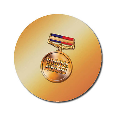 Personalised Bronze Award Stickers - Medal (70 per sheet - 25mm)