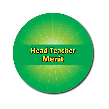 Personalised Head Teacher Merit Stickers - Green (70 per sheet - 25mm)