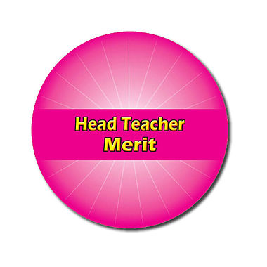 Personalised Head Teacher Merit Stickers - Pink (70 per sheet - 25mm)