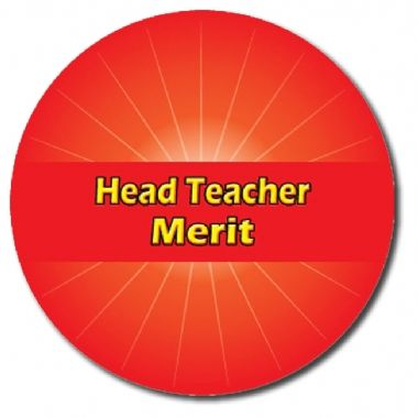 Personalised Head Teacher Merit Stickers - Red (70 per sheet - 25mm)