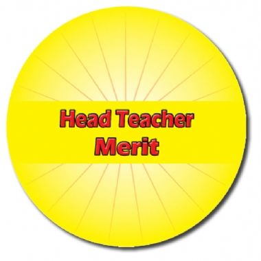 Personalised Head Teacher Merit Stickers - Yellow (70 per sheet - 25mm)