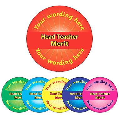 Personalised Head Teacher Merit Stickers (70 per sheet - 25mm)