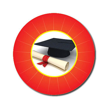 Personalised Graduation Stickers - Red (70 per sheet - 25mm)
