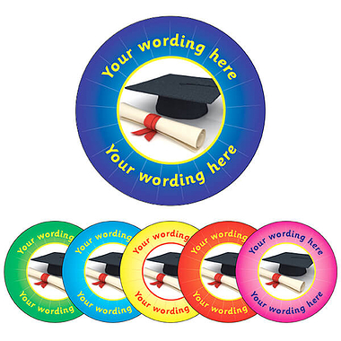 Personalised Graduation Stickers (70 per sheet - 25mm)